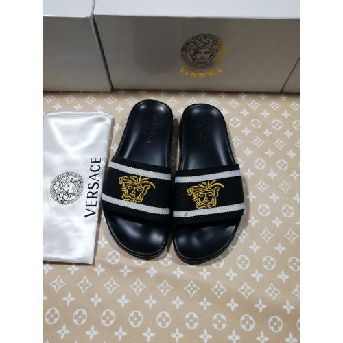 Versace Slippers For Men #767516 $41.71, Wholesale Replica Versace Slippers