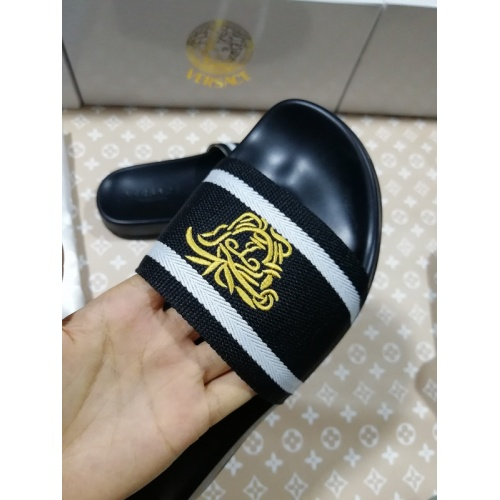 Replica Versace Slippers For Men #767516 $41.71 USD for Wholesale