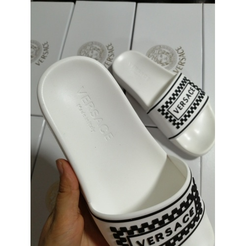 Replica Versace Slippers For Men #767520 $41.71 USD for Wholesale