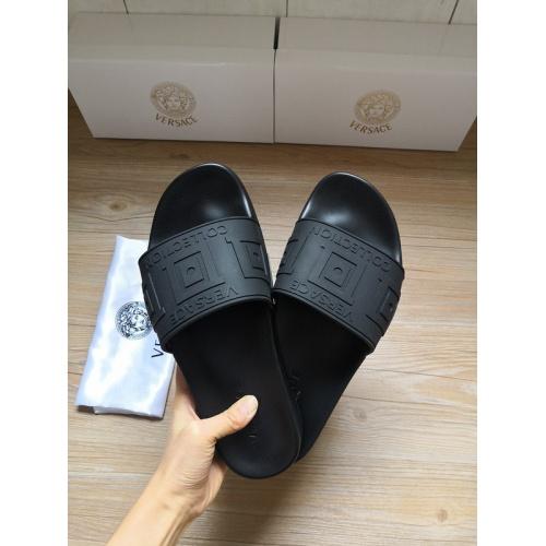 Versace Slippers For Men #767526 $41.71, Wholesale Replica Versace Slippers