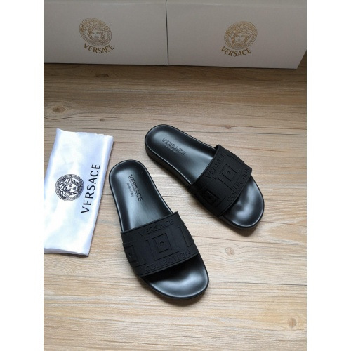 Replica Versace Slippers For Men #767526 $41.71 USD for Wholesale