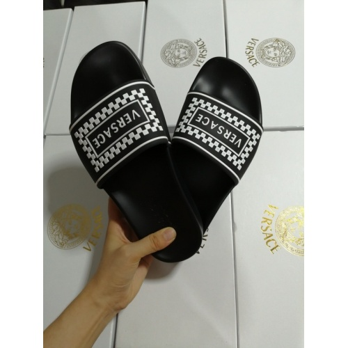 Replica Versace Slippers For Women #767550 $41.71 USD for Wholesale