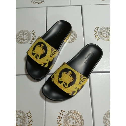 Replica Versace Slippers For Women #767558 $41.71 USD for Wholesale