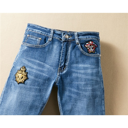Replica Versace Jeans Trousers For Men #767571 $43.65 USD for Wholesale