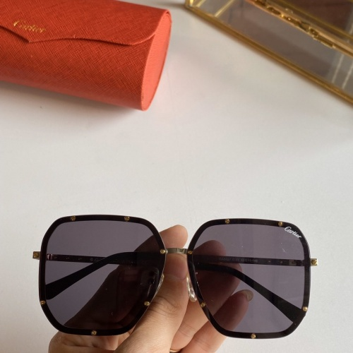 Cartier AAA Quality Sunglasses #768142