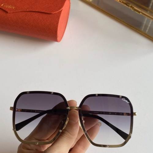 Cartier AAA Quality Sunglasses #768143