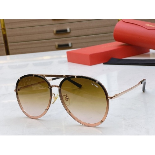 Cartier AAA Quality Sunglasses #768552