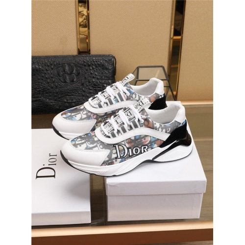 Replica Christian Dior Casual Shoes For Men #768641 $82.45 USD for Wholesale