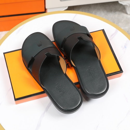 Replica Hermes Slippers For Men #769382 $43.65 USD for Wholesale