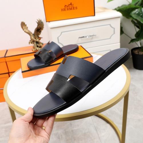 Replica Hermes Slippers For Men #769383 $43.65 USD for Wholesale