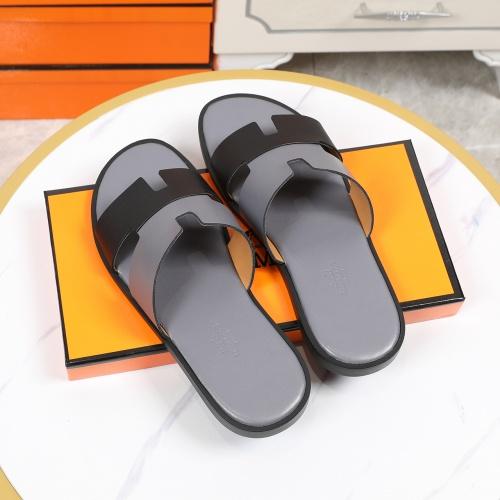 Replica Hermes Slippers For Men #769384 $43.65 USD for Wholesale