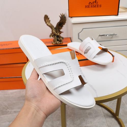 Replica Hermes Slippers For Men #769390 $43.65 USD for Wholesale