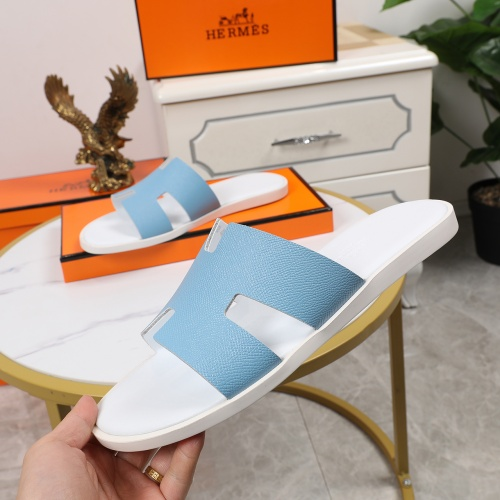Replica Hermes Slippers For Men #769395 $43.65 USD for Wholesale