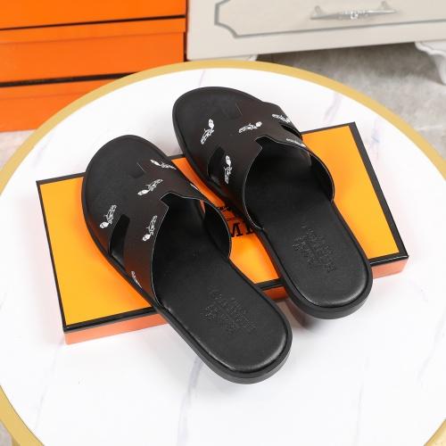 Replica Hermes Slippers For Men #769449 $46.56 USD for Wholesale