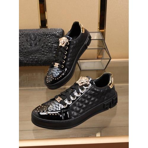 Versace Casual Shoes For Men #769586 $79.54, Wholesale Replica Versace Shoes