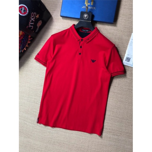 Armani T-Shirts Short Sleeved Polo For Men #769819
