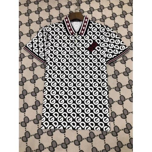Dolce & Gabbana D&G T-Shirts Short Sleeved Polo For Men #770028