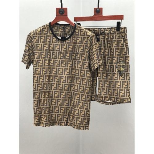 Fendi Tracksuits Short Sleeved O-Neck For Men #770364