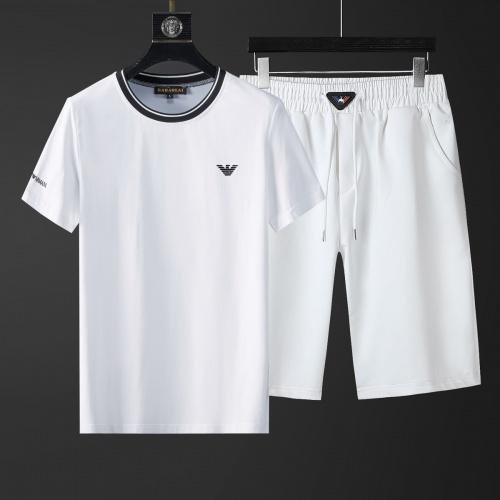 Armani Tracksuits Short Sleeved O-Neck For Men #770388