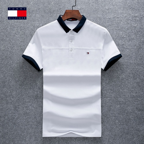 Thom Browne TB T-Shirts Short Sleeved Polo For Men #770621 $26.19 USD, Wholesale Replica Thom Browne TB T-Shirts