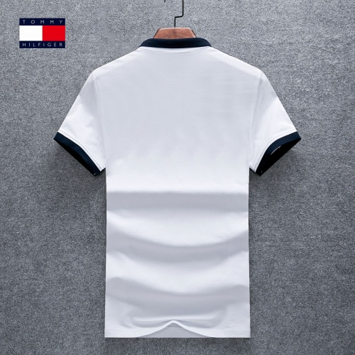 Replica Thom Browne TB T-Shirts Short Sleeved Polo For Men #770621 $26.19 USD for Wholesale
