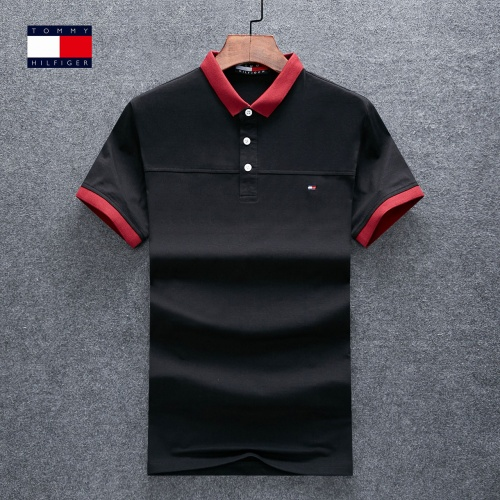 Thom Browne TB T-Shirts Short Sleeved Polo For Men #770624 $26.19 USD, Wholesale Replica Thom Browne TB T-Shirts