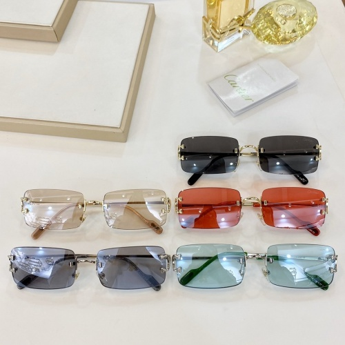 Replica Cartier AAA Quality Sunglasses #771054 $47.53 USD for Wholesale