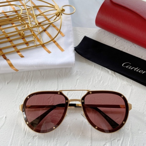 Cartier AAA Quality Sunglasses #771066