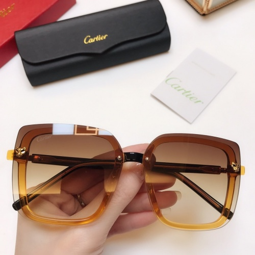 Cartier AAA Quality Sunglasses #771244