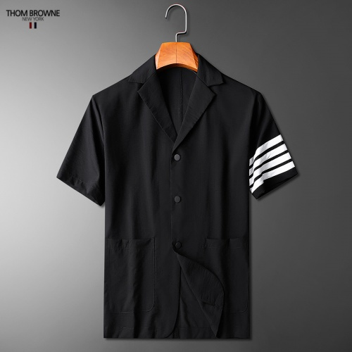 Replica Thom Browne TB Tracksuits Short Sleeved Polo For Men #771393 $77.60 USD for Wholesale