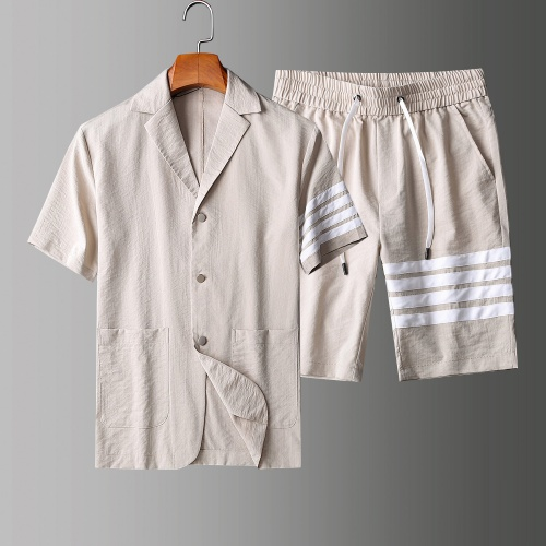 Thom Browne TB Tracksuits Short Sleeved Polo For Men #771394 $77.60 USD, Wholesale Replica Thom Browne TB Tracksuits