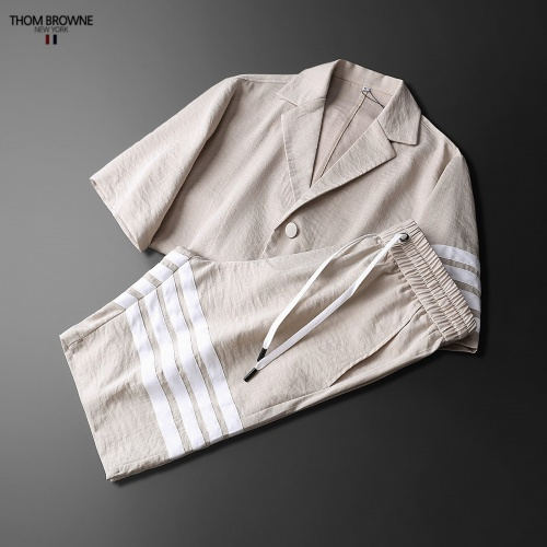 Replica Thom Browne TB Tracksuits Short Sleeved Polo For Men #771394 $77.60 USD for Wholesale