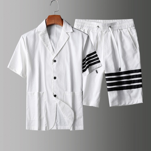 Thom Browne TB Tracksuits Short Sleeved Polo For Men #771395 $77.60 USD, Wholesale Replica Thom Browne TB Tracksuits