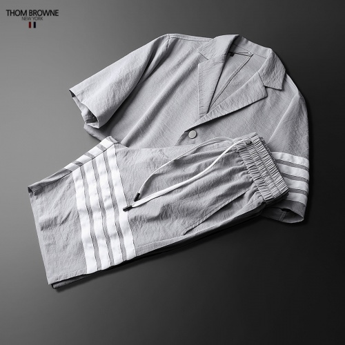 Replica Thom Browne TB Tracksuits Short Sleeved Polo For Men #771396 $77.60 USD for Wholesale