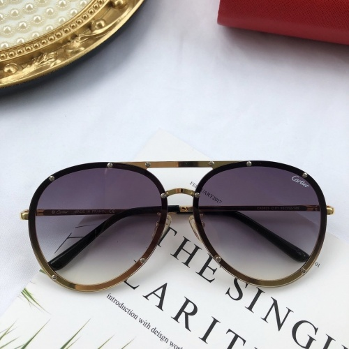 Cartier AAA Quality Sunglasses #771596