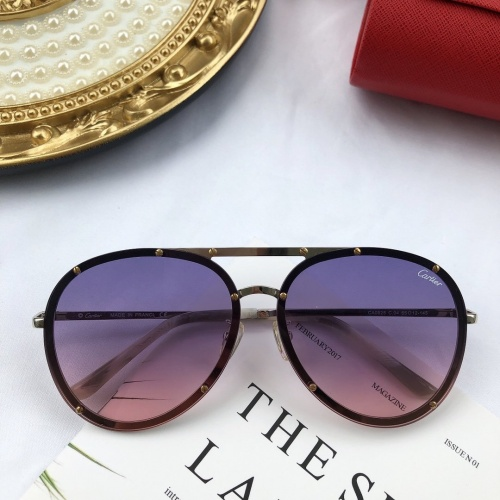 Cartier AAA Quality Sunglasses #771597