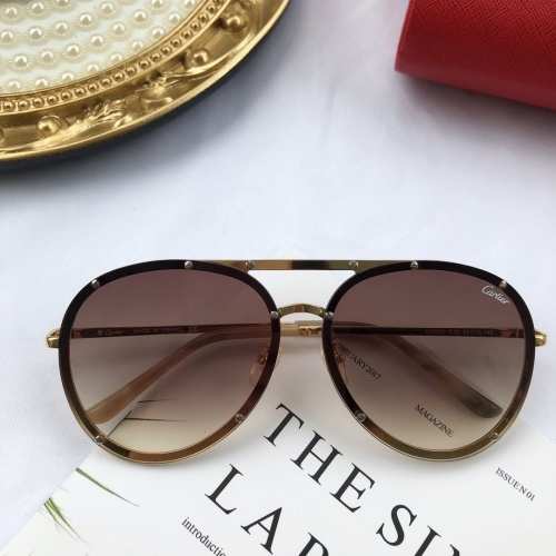 Cartier AAA Quality Sunglasses #771598
