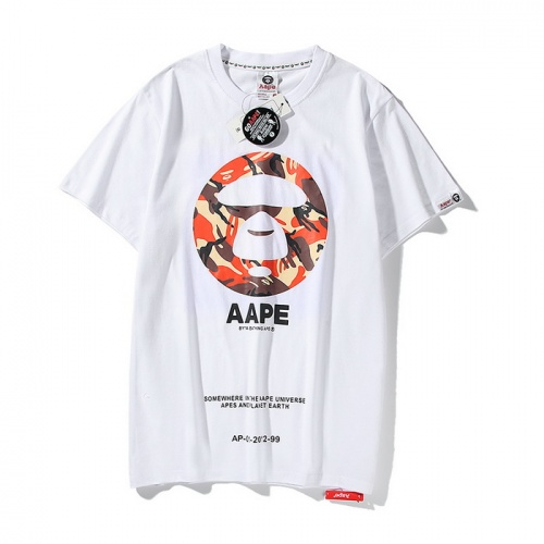 Aape T-Shirts Short Sleeved O-Neck For Men #771966 $24.25 USD, Wholesale Replica Aape T-Shirts