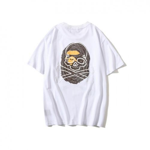 Replica Bape T-Shirts Short Sleeved O-Neck For Men #772012 $26.19 USD for Wholesale