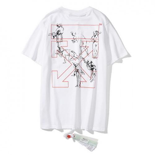 Off-White T-Shirts Short Sleeved O-Neck For Men #772575