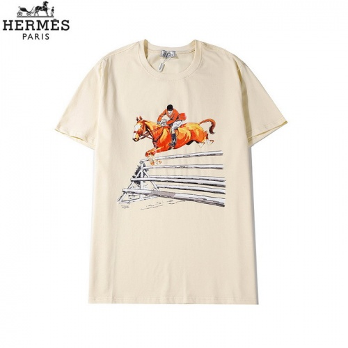 Hermes T-Shirts Short Sleeved O-Neck For Men #773171 $26.19, Wholesale Replica Hermes T-Shirts