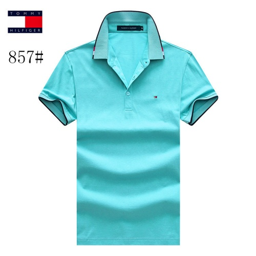 Tommy Hilfiger TH T-Shirts Short Sleeved Polo For Men #773627 $26.19 USD, Wholesale Replica Tommy Hilfiger TH T-Shirts
