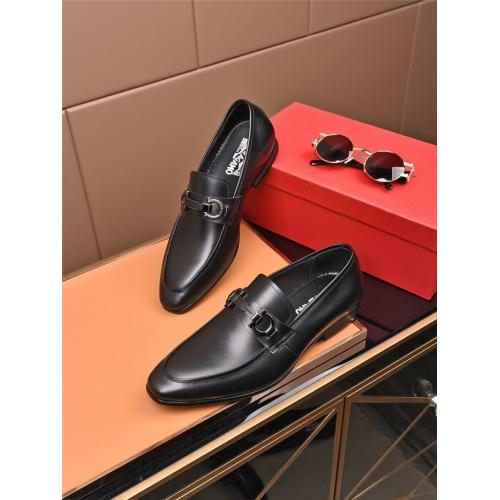 Ferragamo Salvatore FS Leather Shoes For Men #774736