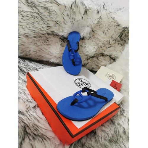 Replica Hermes Slippers For Women #774902 $43.65 USD for Wholesale