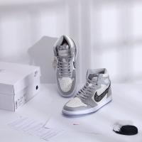 $129.01 USD Air Jordan 1 & Christian Dior High Tops Shoes For Men #766701