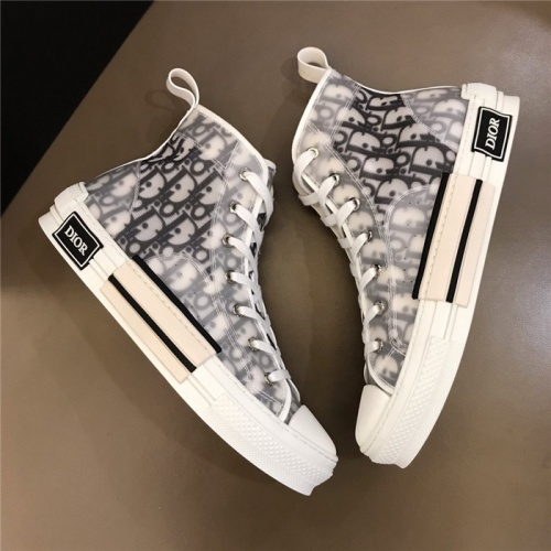 Replica Christian Dior High Tops Shoes For Men #775034 $77.60 USD for Wholesale