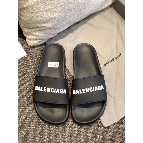 Replica Balenciaga Slippers For Men #775216 $42.68 USD for Wholesale
