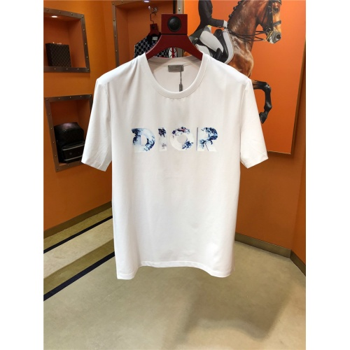 Christian Dior T-Shirts Short Sleeved O-Neck For Men #775312