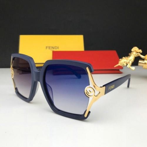 Fendi AAA Quality Sunglasses #776054 $59.17, Wholesale Replica Fendi AAA Sunglasses