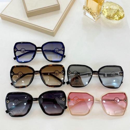 Replica Fendi AAA Quality Sunglasses #776078 $59.17 USD for Wholesale